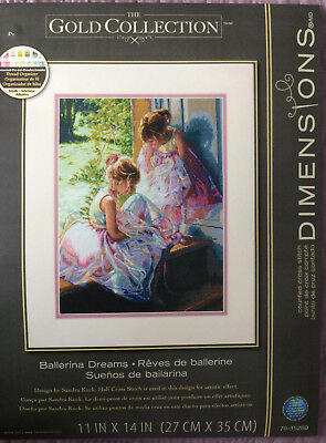 Dimensions Gold Collection Counted Cross Stitch Kit Ballerina Dreams New