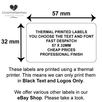 Personalised Business Stickers / Labels, Company Promotion Logo Badge Address