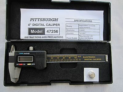 """4"""" inch LCD Digital Caliper SAE/Metric  NEW in carry case FREE extra battery"""