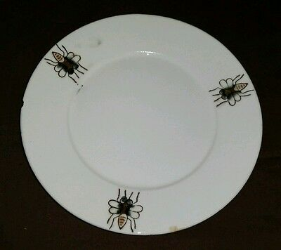 Vintage Hand Painted Housefly Insect Child's Plate Saucer Horse Fly Bug Bee