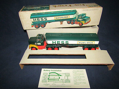 1977 Vintage, Antique, Hess Toy Truck In Original Box With Inserts/Battery Card