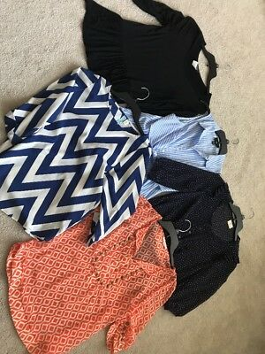 Lot Of 5 Dressy Shirts Women's Size Medium & Small