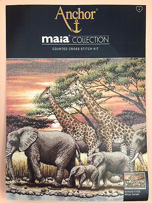 Anchor Maia Collection Counted Cross Stitch Kit African Sunset New