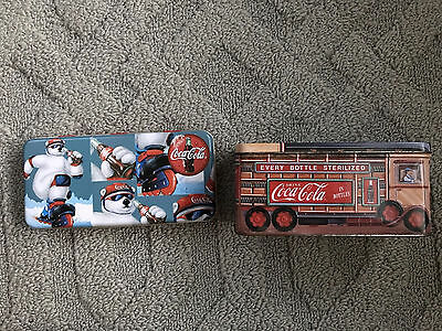 Coca-Cola Tin Box Set of 2
