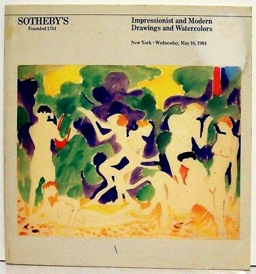 """Sotheby's """"IMPRESSIONIST & MODERN DRAWINGS & WATERCOLORS"""" Catalog 1984 Sale 5182"""