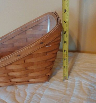 1990 Longaberger Small Vegetable Basket and Protector
