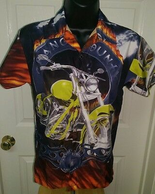 Orange County Choppers Kid's Unisex Multi Color Button Down Shirt Size S