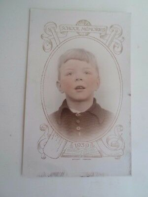 Rare Vintage  School Memories Postcard 1939 - Young Boy    §A19