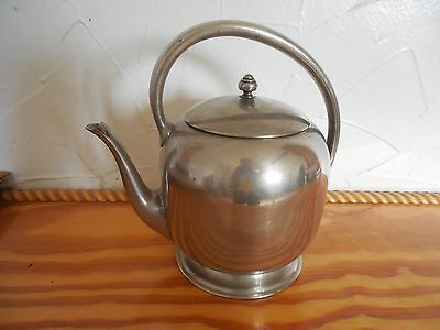 VINTAGE Antique FORBES SILVER CO.TEA POT  SILVERPLATE on Copper 1890s Victorian