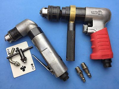 Matco 1/2 reversible air drill RL150 & generic 3/8 right angle Set NO OWNR MRKS
