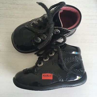 KICKERS CHAUSSURES BEBE FILLE 19 Vernies Noires Tbe