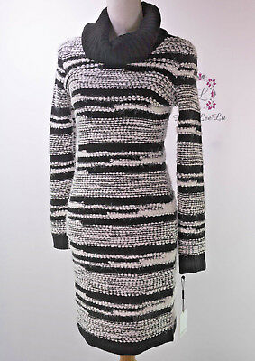 7db5883eca8 Calvin Klein New Eyelash Stripe Cowl Neck Sweater Dress CD5W1K4N Size S M L  XL