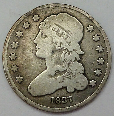 1837 Silver Capped Bust Quarter