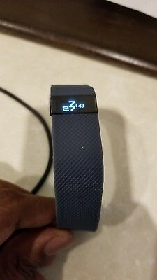 Fitbit Charge HR Activity Heart Rate + Sleep Wristband Slate size Large
