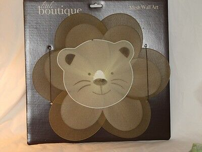New Little Boutique Rainforest Wire & Mesh Jungle LION Wall Hanging