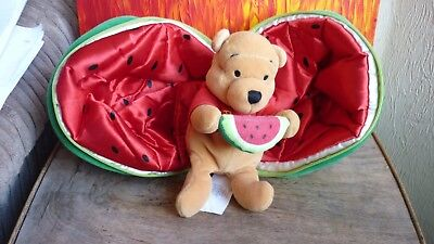 WALT DISNEY Pooh Bear Watermelon soft toy