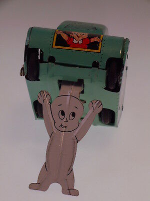 "Gscom ""caspar The Ghost Turnover Tank"" Linemar Toys 1960, Wind Up Ok, Like New !"