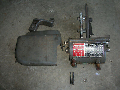 Atlas Craftsman 12 Inch Lathe Quick Change Gearbox Conversion Kit Fine Used