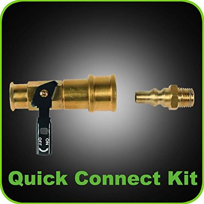 Quick-Connect Kit for Low Pressure Propane Systems With Safety Shut Off Valve