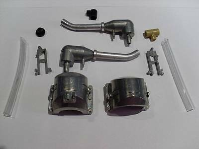 Taigen King Tiger Metal Exhausts for 1:16 Scale RC Tank