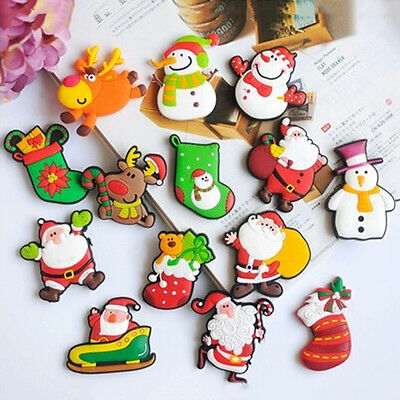 New Christmas Santa Claus Fridge Magnet Sticker Cute Funny Refrigerator Toy FO