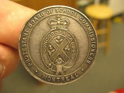 Protestant Board of School Commissioners Montreal silver Medal Leroux 1875