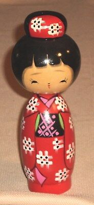 Vintage Japan Traditional こけし こけし KOKESHI Doll Wood Hand Painted 584r
