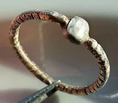 Silver Roman Ring ** Twisted Band ** Interesting Design