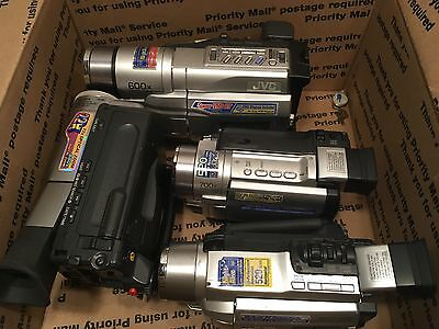 lot of 4 camcorders for parts or repair Samsung JVC As Is