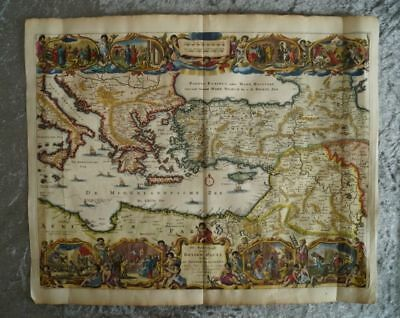 Paul Journey Turkey Israel Syria Orient Engraving Map Stoopendaal 1702 #b823