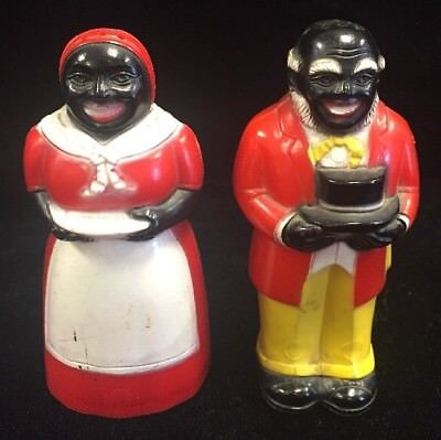 Aunt Jemima & Uncle Mose Salt & Pepper F&f Mold And Die Works Dayton, Ohio Usa