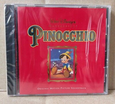 Walt Disney's Masterpiece Pinocchio Original Motion Picture Soundtrack 1992 NEW