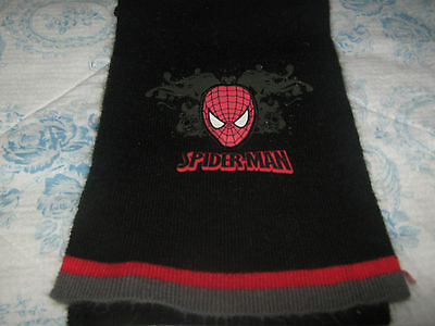 Spiderman Childs Scarf Black with Spiderman Face Logo