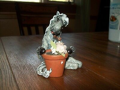 Cute Horse with flower pot