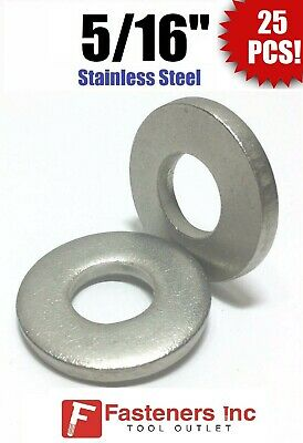 "(Qty 25) 5/16"" Stainless Steel THICK HEAVY DUTY SAE Flat Washers (.100 Thick)"