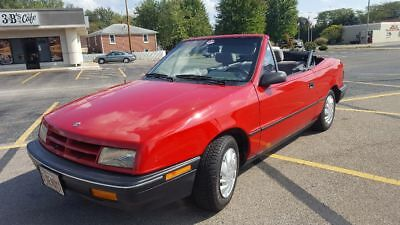 1991 Dodge Shadow Highline Convertible 1991 Dodge Shadow Convertible 57,000 miles 2 owner 5 speed manual