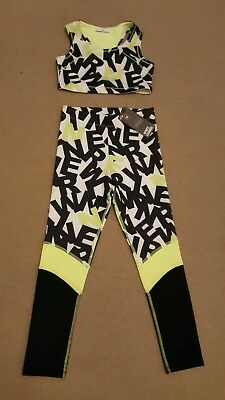 Brand New Girls Active Wear Sports Leggings and Cropped Top Age 9-10 from M & S