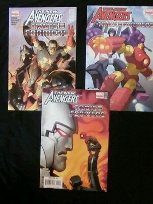 The New Avengers/Transformers lot #1, 3 & 4. Marvel Comics 2007 FREE SHIPPING!