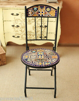 New Fashion Hand Paint Mediterranean Style Procelain Embeded Dining Chair
