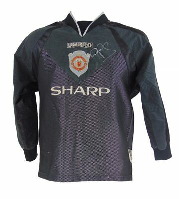 Peter Schmeichel Signed Manchester United Retro Football Shirt *rare*