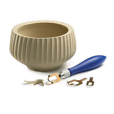 Xiem POTTERY FLUTING TOOL SET - clay surface texture tools, concave pattern