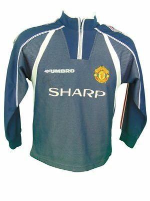 Peter Schmeichel Signed Manchester United Retro Football Shirt *rare* + *coa*