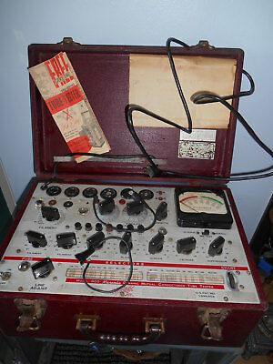 Vintage 50's Hickok Model 600 Micromho Dynamic Conductance Tube Tester