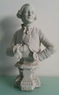 Beautiful Marked Antique Bisque Figurine Of The French King Louis 16