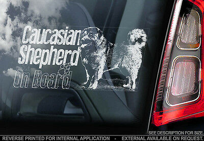 Caucasian Shepherd - Car Window Sticker - Dog Sign -V03