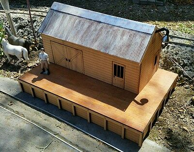 *NEW* Laser Cut G Scale ( 1/29) scale Railway Goods Shed and platform  Kit