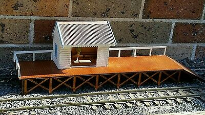 Laser cut  1/29 scale  timber( country /branchline ) railway station kit