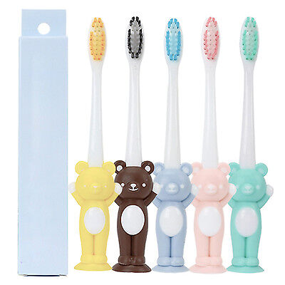 Bear Shape Ultra Soft Brush Children Toothbrush Baby Exclusive Toothbrush GUT