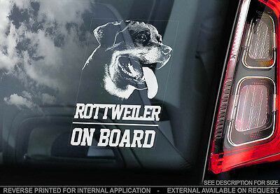 Rottweiler - Car Window Sticker - Dog Sign -V01