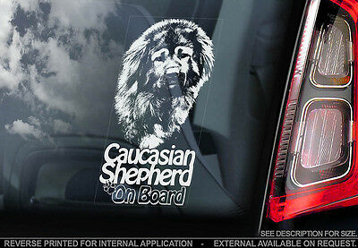 Caucasian Shepherd - Car Window Sticker - Dog Sign -V02